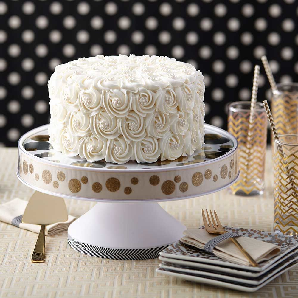 Pure White Rosette Wedding Cake #purewhite