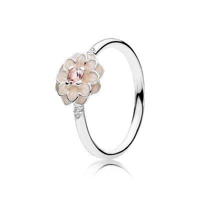 pandora anello fiore nero