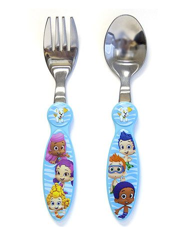 Take a look at this Blue Bubble Guppies Wave Cutlery Set ...