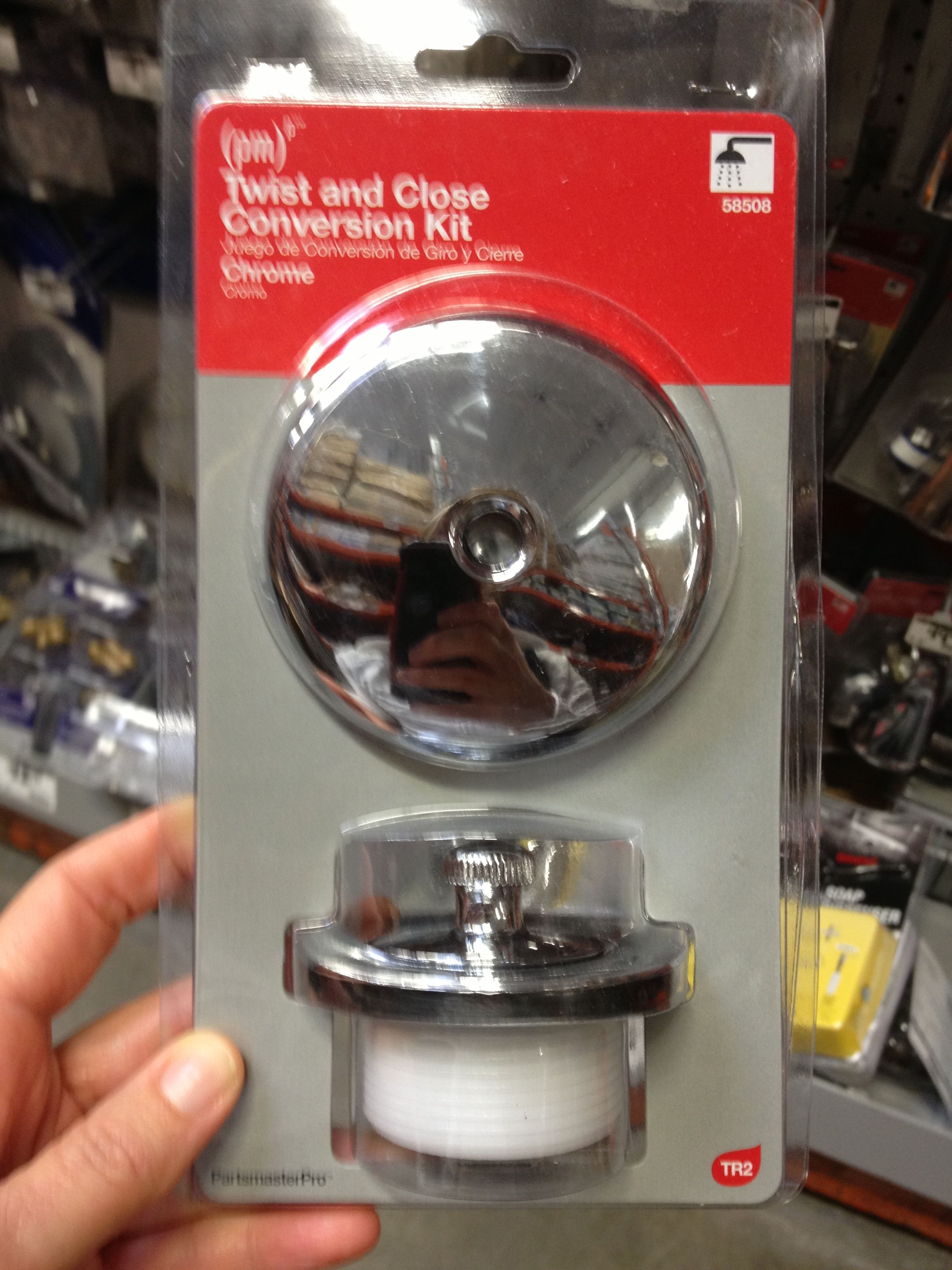 Twist and close conversion kit Home Depot $16.97