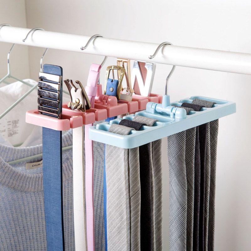 Closet Wardrobe Storage Rack Tie Belt Scarf Organizer Hanger Holder Rack Shelf