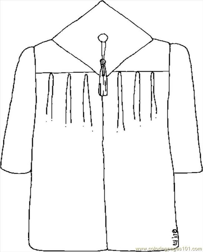 Graduation Gown Images Free Printable Coloring Page Cap And Gown