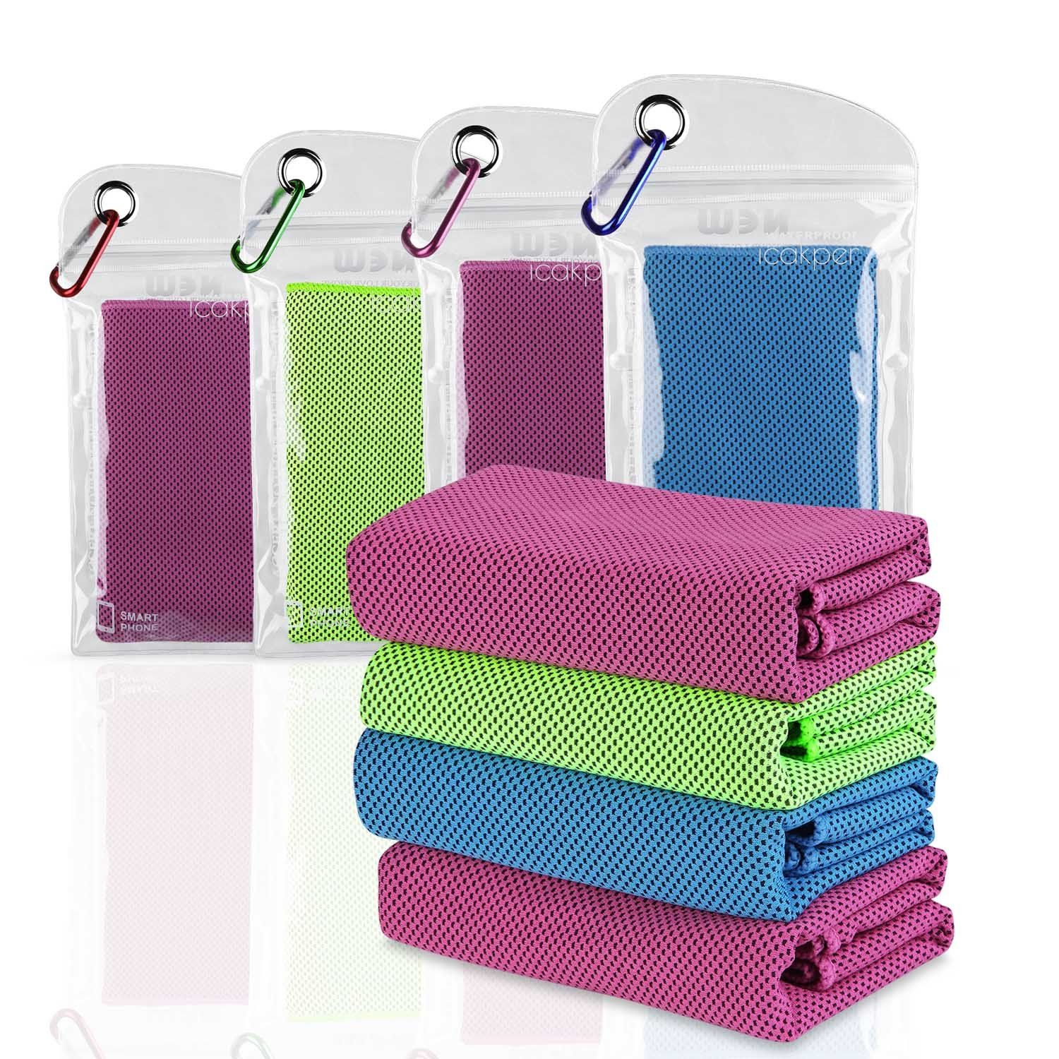 4 Pcs Cooling Towel Combo 40 Long Instant Cooling Towel For