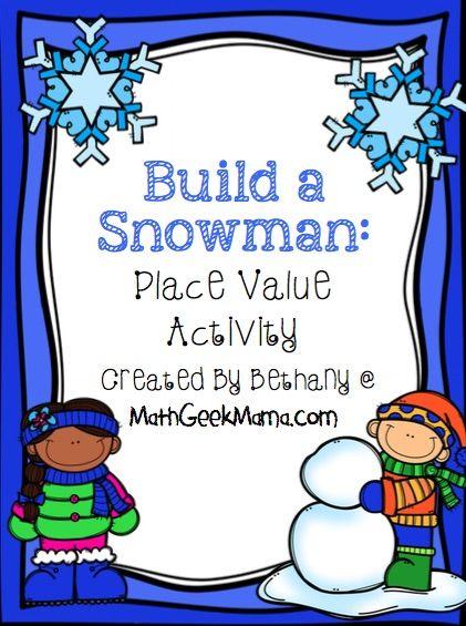 Build a Snowman Place Value Sort