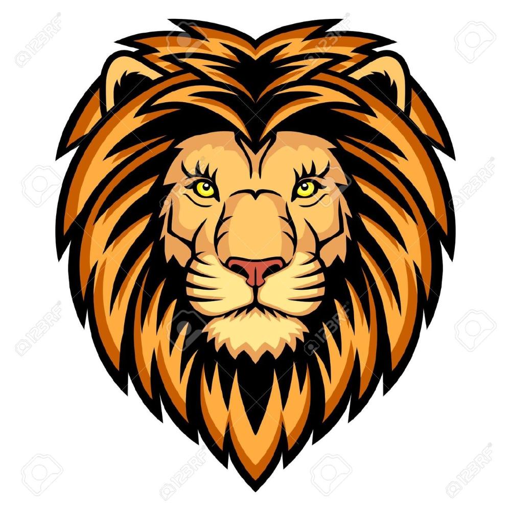 Lion Face Clipart Google Search Lion Head Logo Lion Illustration Vector Illustration