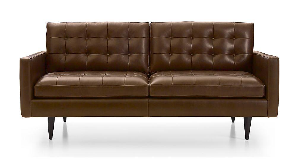 Petrie Leather Midcentury Apartment Sofa | Family living ...