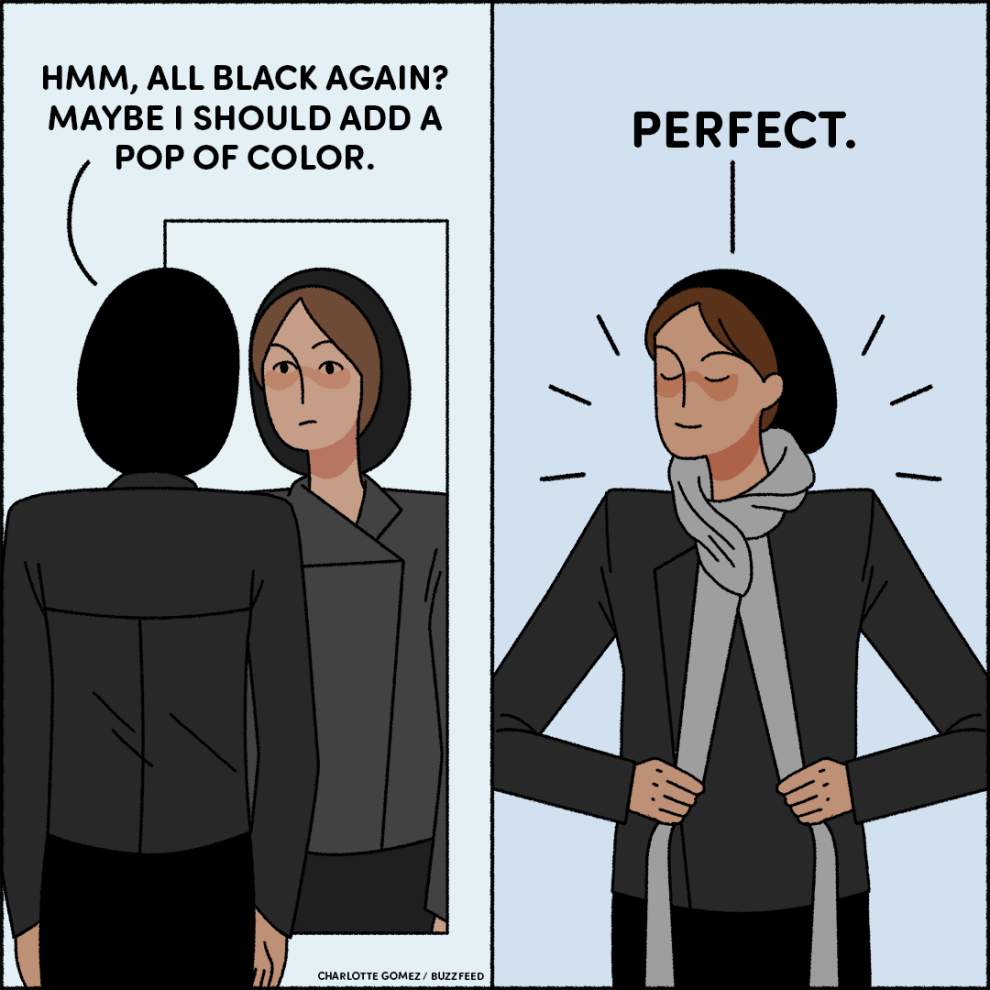 17 Memes You Ll Laugh At If You Only Wear Black Clothing Wearing Black Dress Meme Wearing All Black