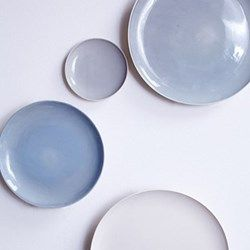 Shell Bisque Blue Dinnerware Build Your Gift List At The Wedding