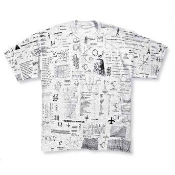 Math Geek Formulas All Over Heather-Black Men/'s Ringer T-Shirt