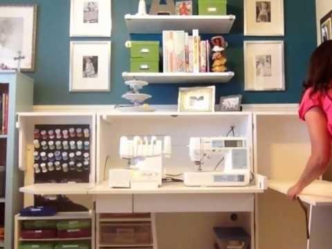 Mueble para las maquinas de coser decoracion pinterest for Mueble organizador de costura