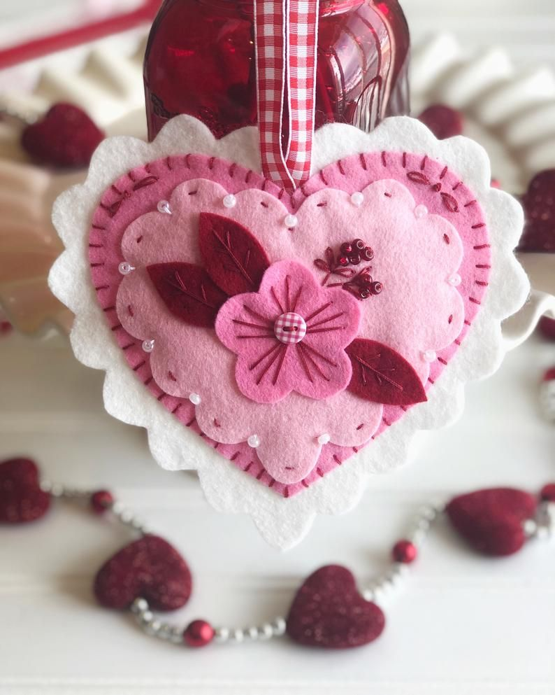 Pattern Valentine Felt Ornament Felt Ornaments Patterns Felt Ornaments Valentine Crafts