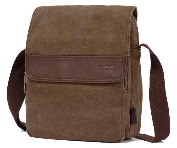 Vertical Canvas Shoulder Messenger Bag