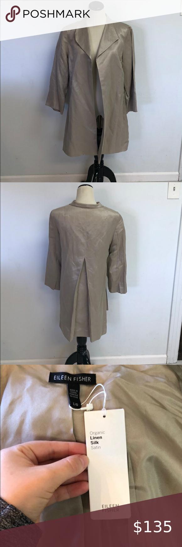 Eileen Fisher Organic Linen And Silk Coat Silk Coat Organic Linens Fashion [ 1740 x 580 Pixel ]