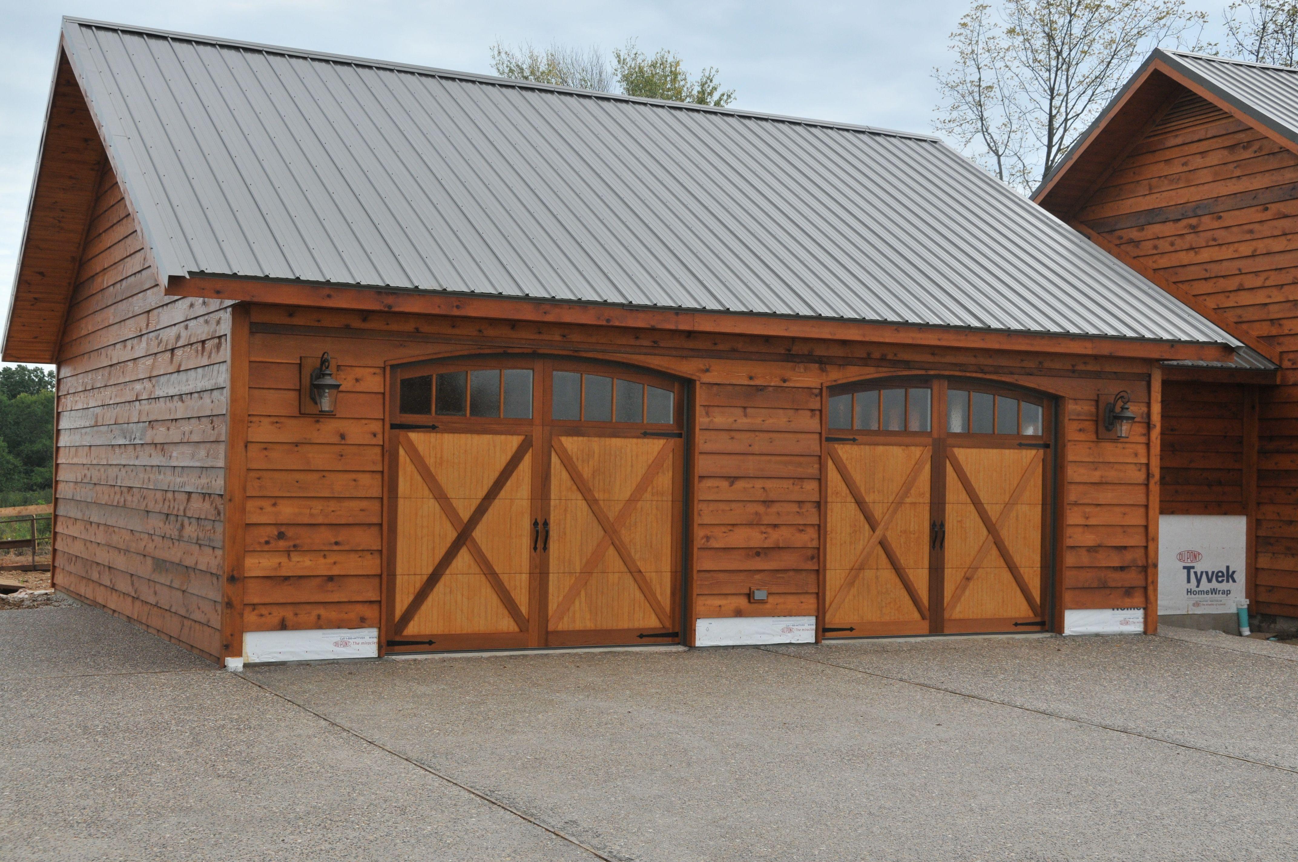 Wood Carriage House Garage Doors By C H I Overhead Doors
