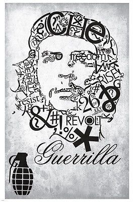 CHE GUEVARA guerilla poster SYMBOLIC artistic collage 24X36 REVOLUTIONARY Brand New. 24x36 inches. Will ship in a tube. - Multiple item purchases are combined the next day and get a discount for domes