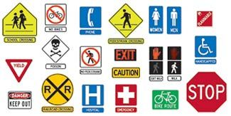 Survival Sign And Symbols Learning Shop Safety Signs And Symbols Bulletin Board Sets Community Signs