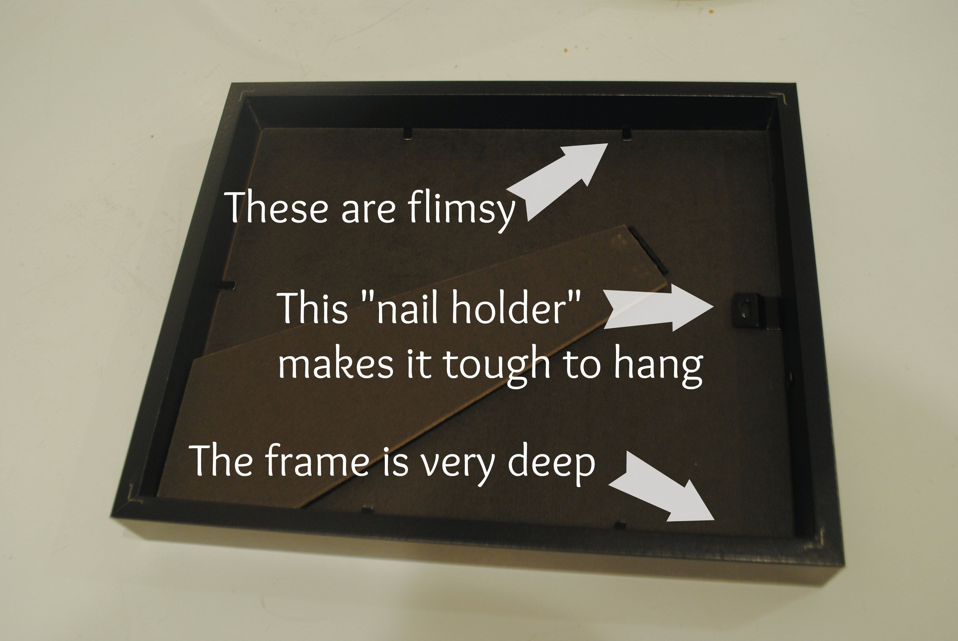 How To Hang Ikea Ribba Frames with nails | Home Decor | Pinterest ...