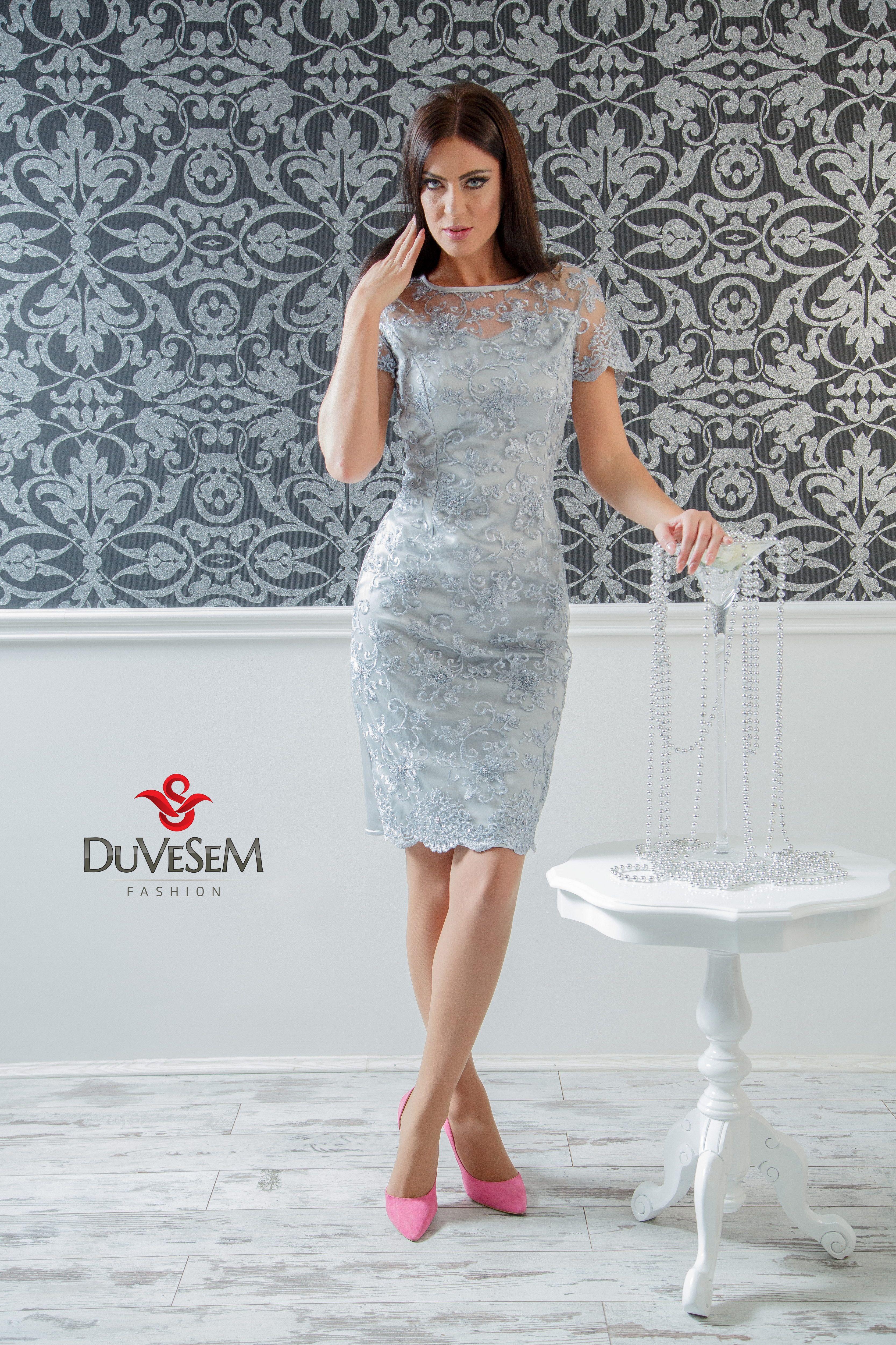 Cocktail Dress Cocktaildress Silverdress Greydress