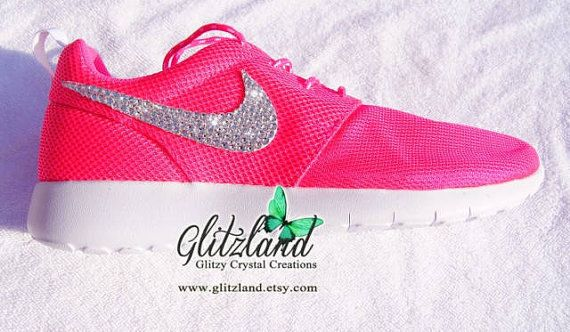 Swarovski Nike Preschool Pink Roshe Run Blinged with SWAROVSKI® Crystals