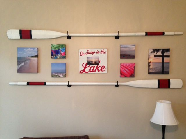 Hanging Oars On The Wall Google Search
