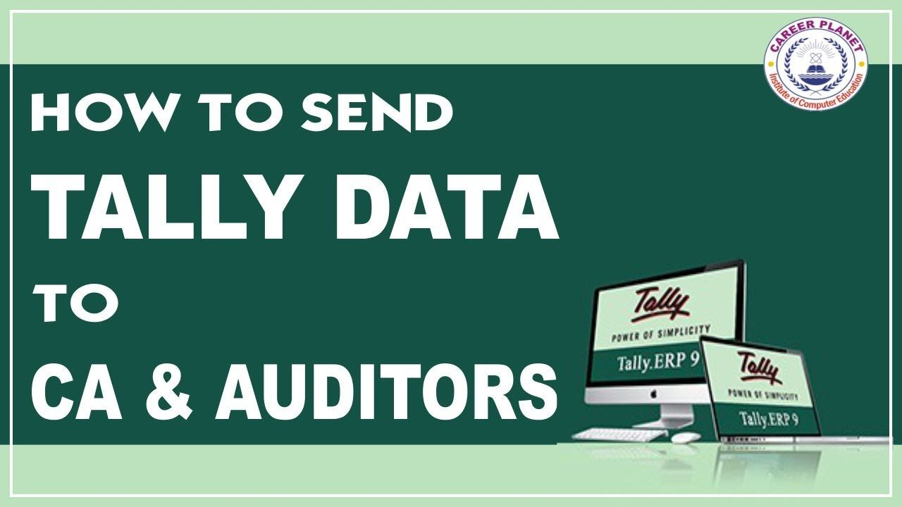 Tally Erp 9 How To Send Tally Data To Ca Data Accounting Course Learning