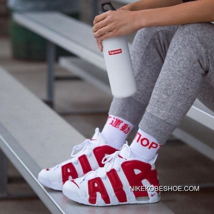 separation shoes 93916 51f98 Nike Air More Uptempo AIR Red White Women Men 36-45 Top Deals