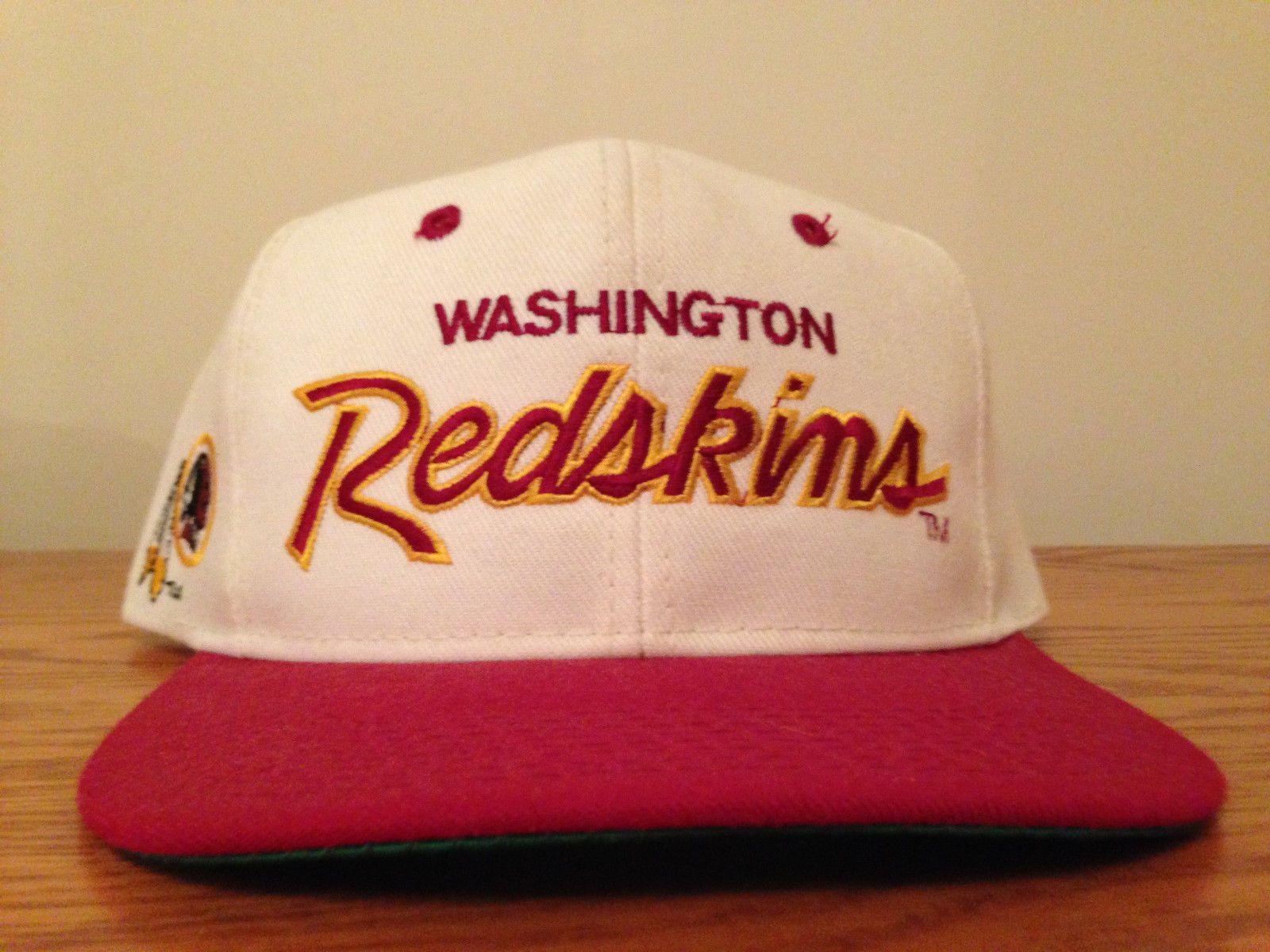 Washington Redskins vintage Sports Specialties script snapback cap hat  Starter e5b024c5a744