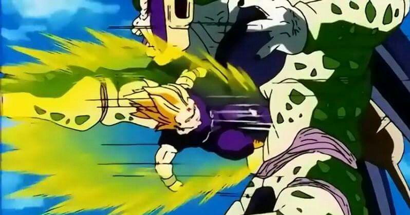 Gohan delivers the ultimate gut punch/kick | Dragonball Z ○ | Pinterest