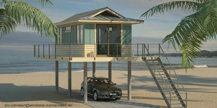 Pin By Lynn Ferrucci On Tiny House Exploration Tiny Beach House Small Beach Houses Beach House Plans