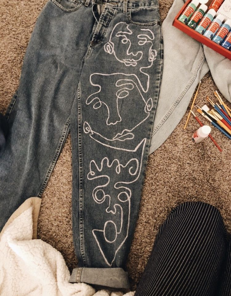 Pin by Maggie Thayer on denim daze | Painted jeans, Painted