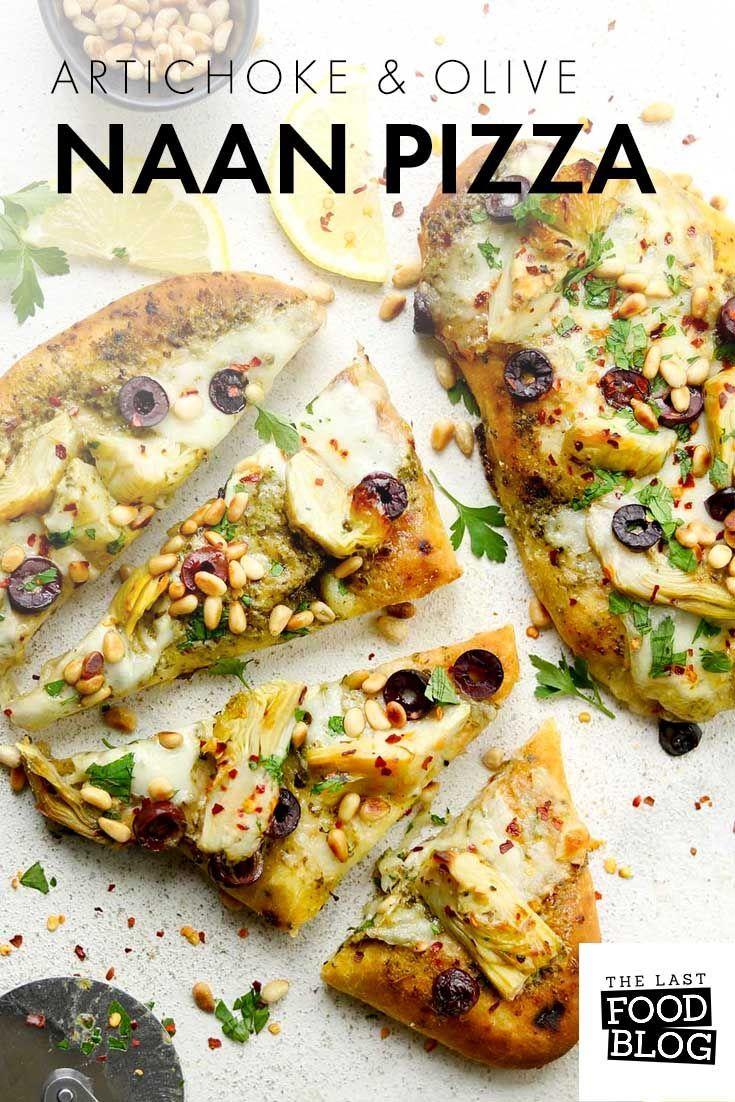 Artischocken & Olive Naan Pizza | Der letzte Food Blog. Fertig in 20 Minuten. Tolle F ... - -