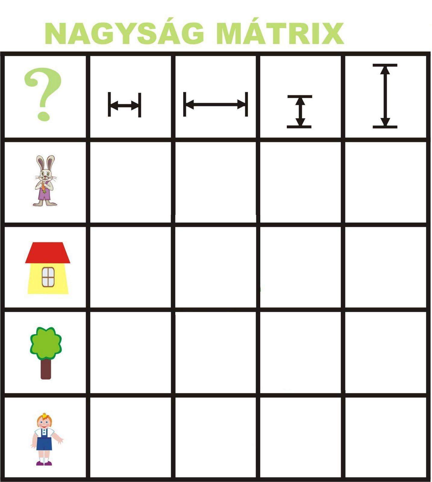 Matrix Begrippen Voor Kleuters 1 Free Printable