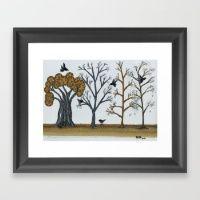 Winter Grove Framed Art Print
