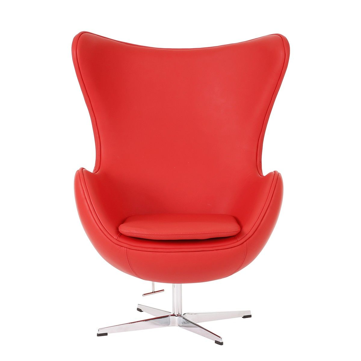 replica arne jacobsen egg chair italian leather lounge arm
