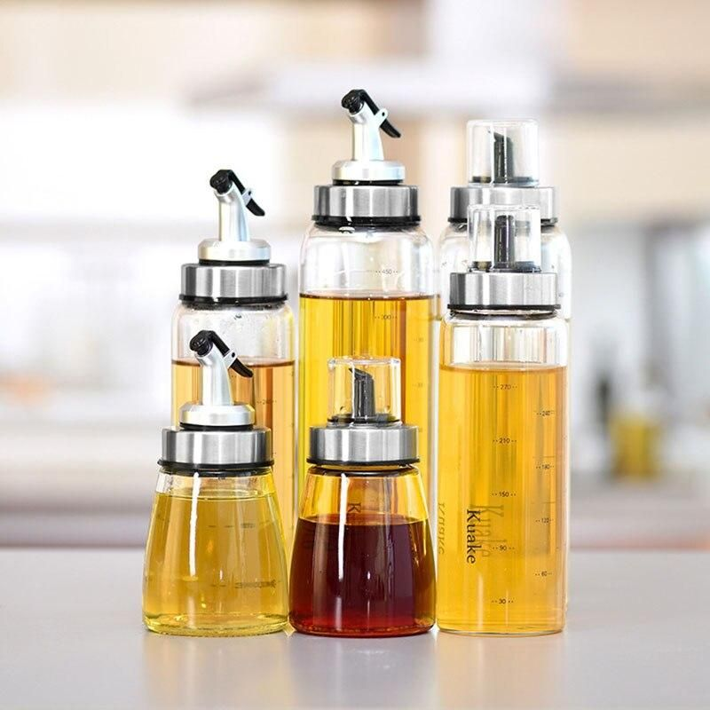 high quality sauce bottle glass storage bottles kitchen accessories for oil and vinegar on kitchen organization oil and vinegar id=55402