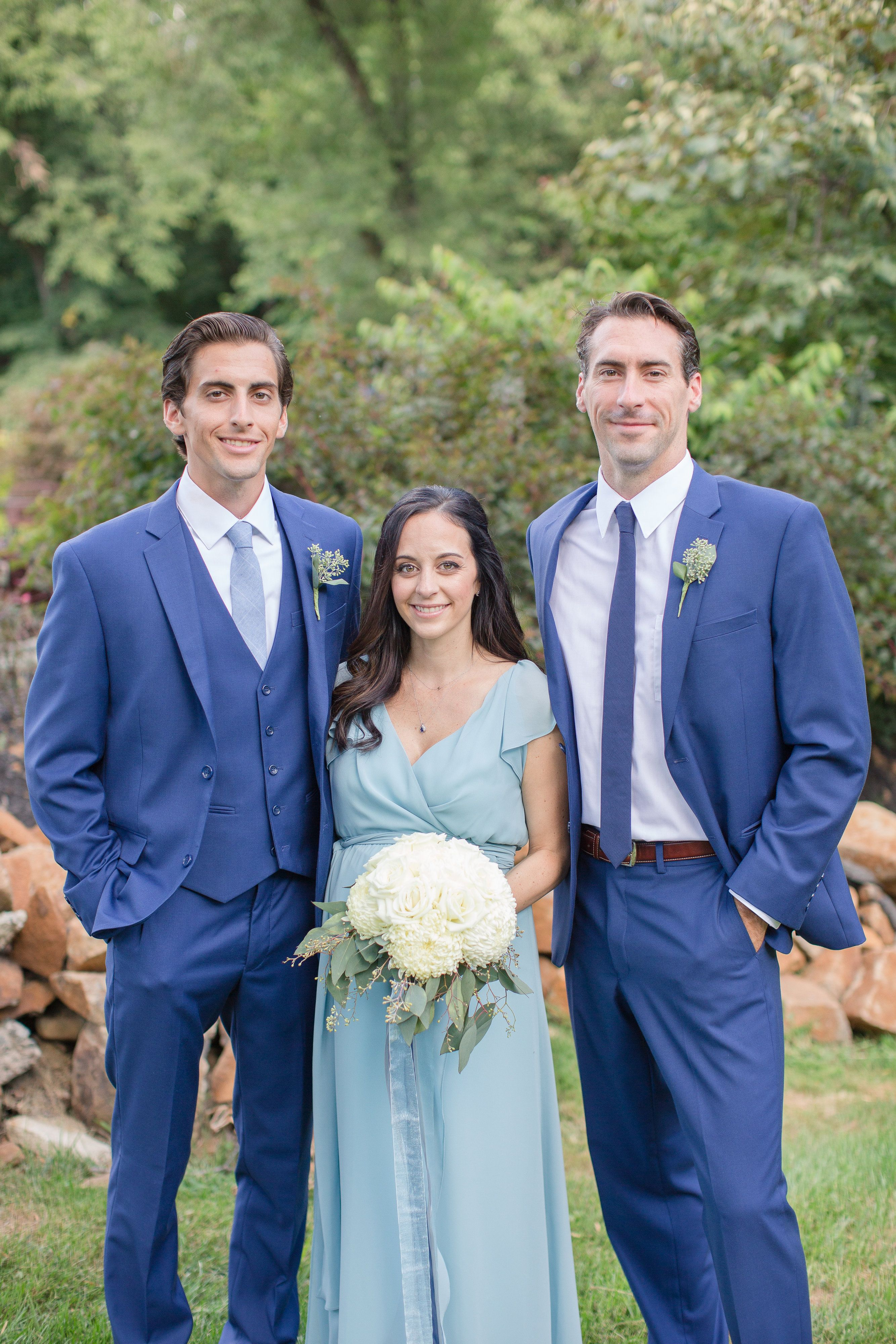 Blue groomsmen and bridesmaid dress bridesmaids pinterest