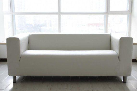 Custom Ikea Klippan Sofa Cover 2 Seater In Modena White Bycast