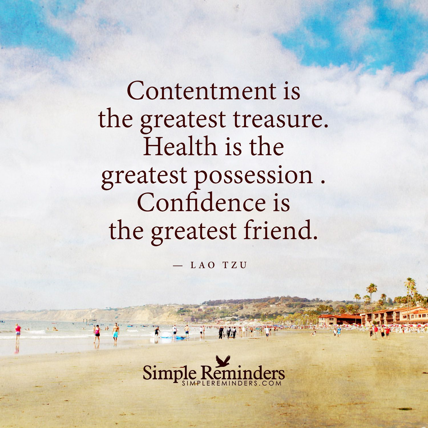 Lao Tzu Quotes Life Contentment Is The Greatest Treasure Contentment Is The Greatest