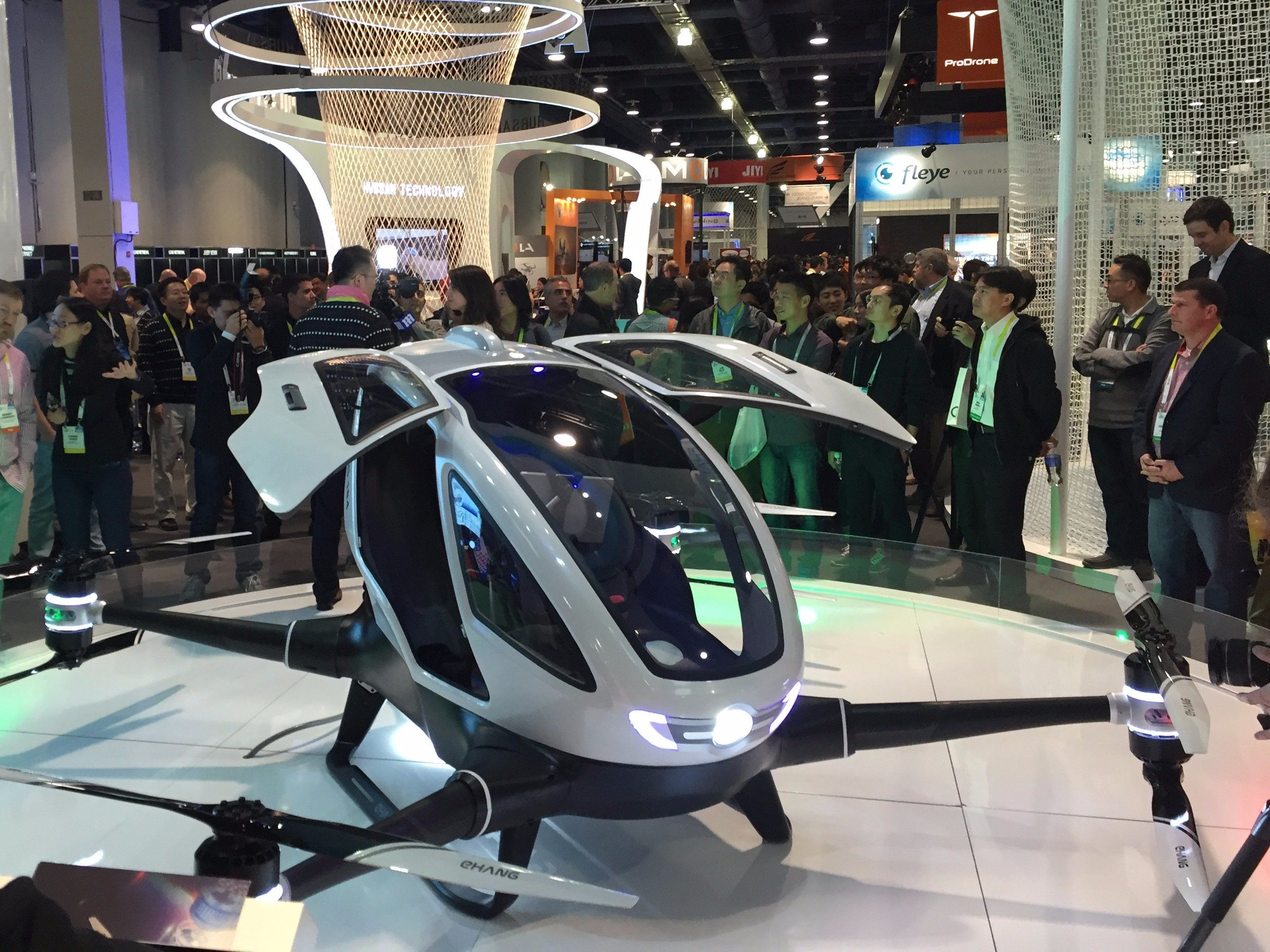 Ehang Drone Quadcopter Can Carry A Person