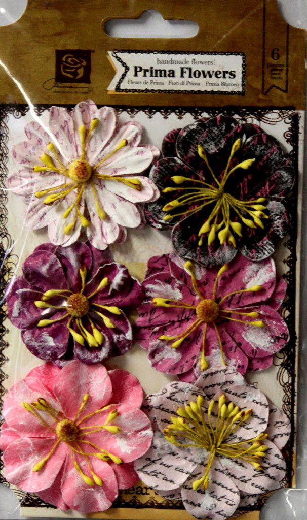 Prima Labelle Cerise Handmade Flowers are available at Scrapbookfare.