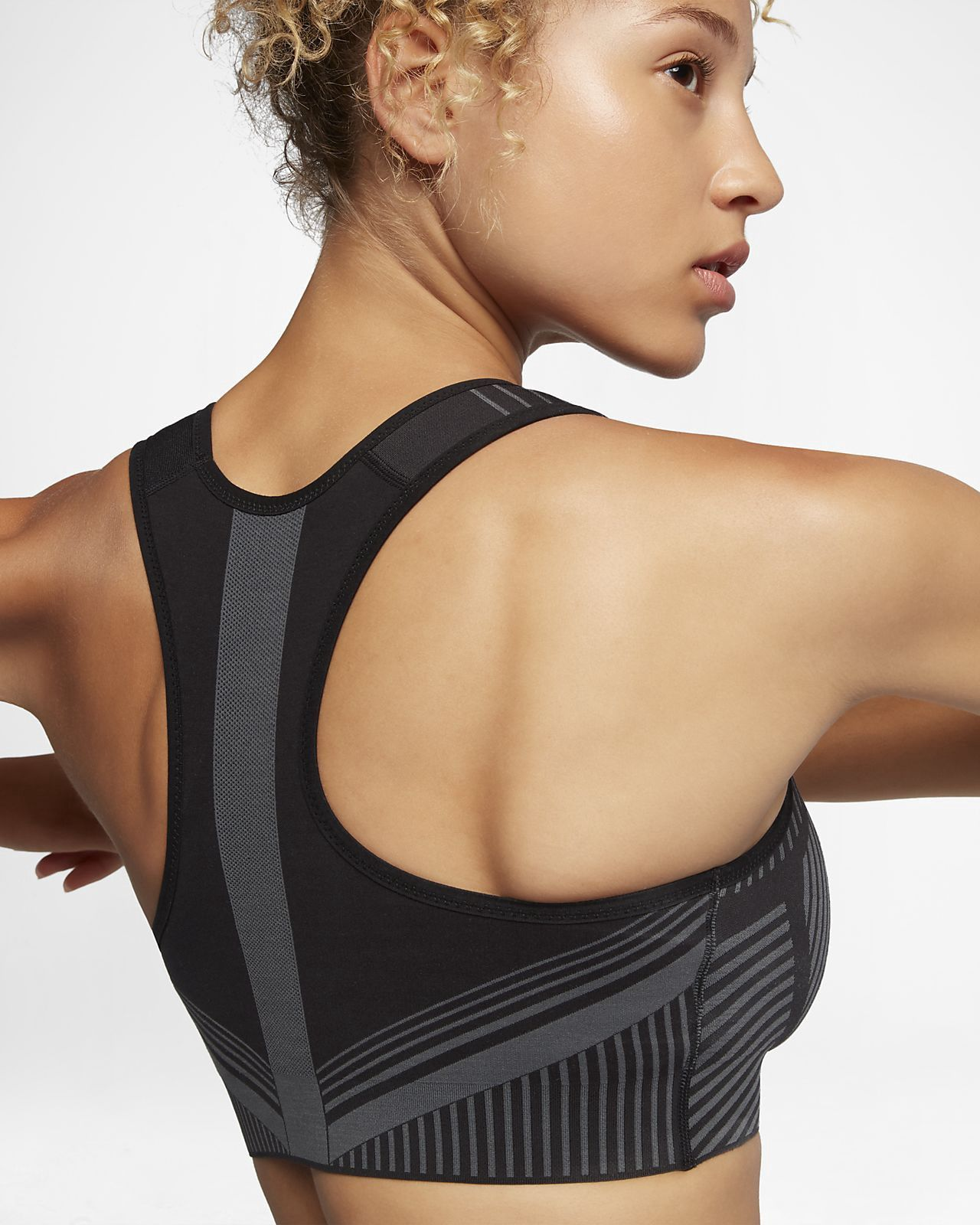 be604a2f4e Nike Fe Nom Flyknit Women s High Support Sports Bra - XL Grey ...