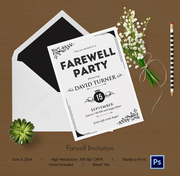 35 farewell party invitation template free in 2020  party