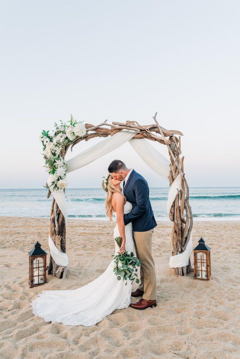 Outer Banks Sunset Wedding   Jeff + Amanda in 2020 ...