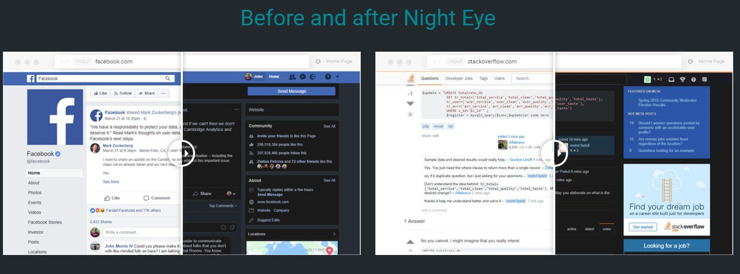 Night Eye Extension Adds a Dark Mode to Websites