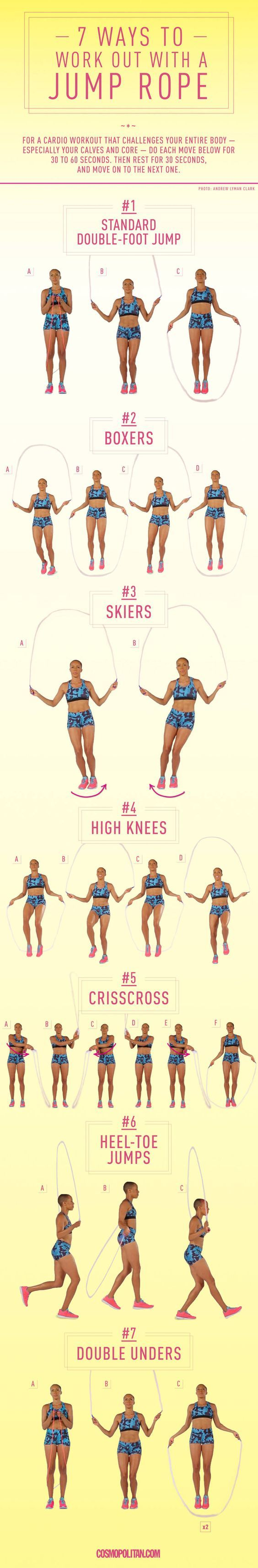 7 Ways to Work Out With a Jump Rope Jump rope workout
