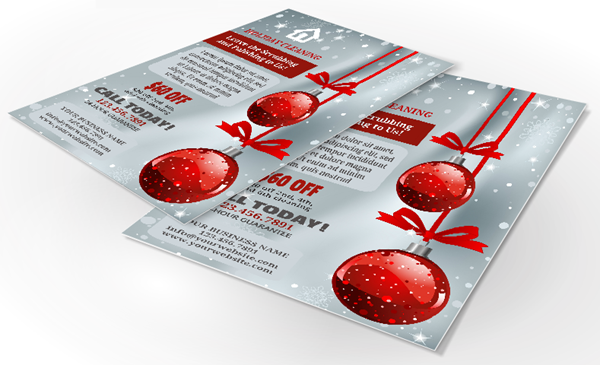 Holiday Cleaning Flyers  Ateamcs    Cleaning Business