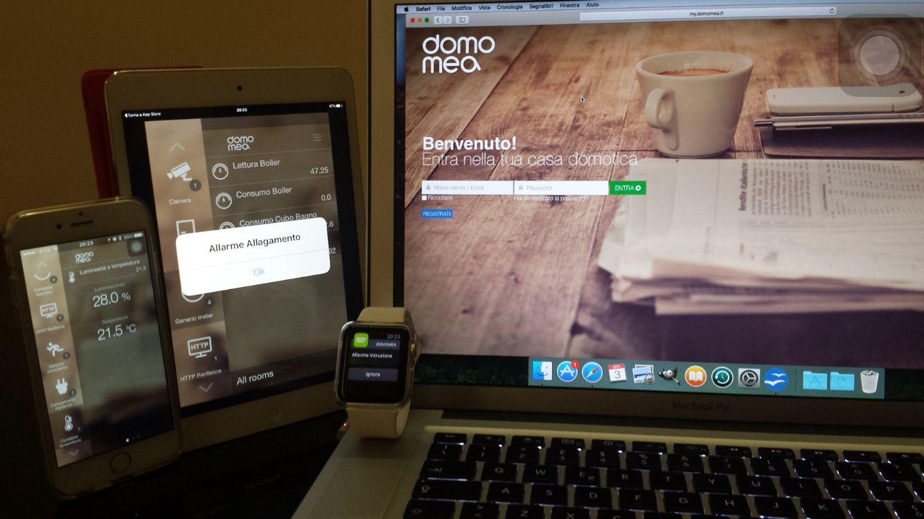 Domomea domotica sistema domotico wireless disponibile su apple
