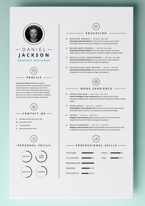 Simple Resume Template vol4 , Mac Resume Template \u2013 Great for More