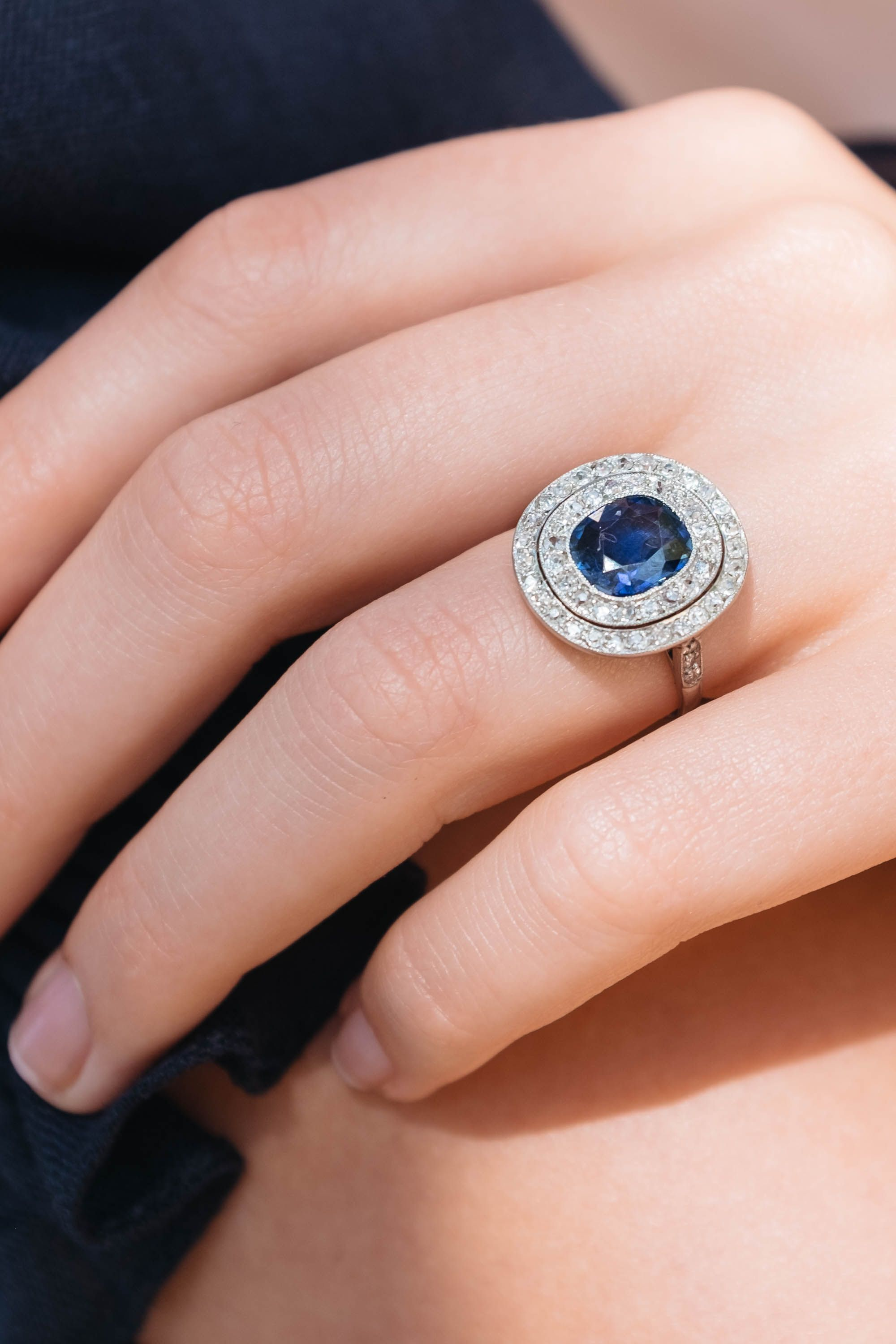 Antique Edwardian Sapphire Engagement Ring | Soldering & Jewelry ...