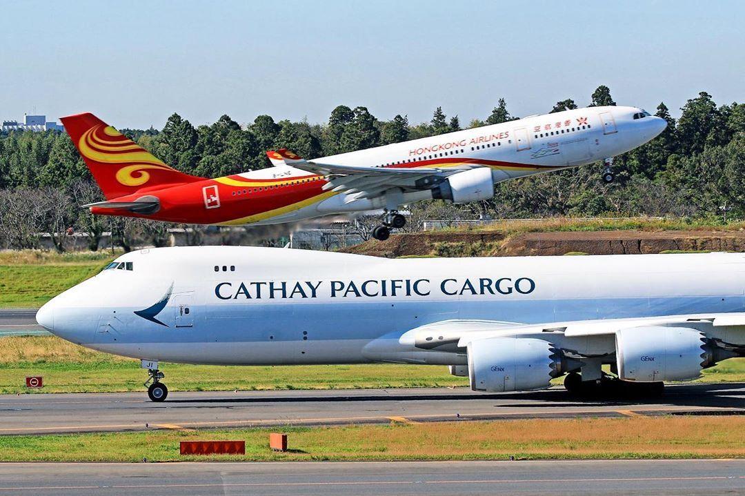 Cathay pacific cargo & Hongkong airlines cathaypacific